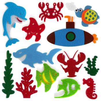 【包邮】 幼儿园墙贴 教室布置 毛毡 海底 小鱼套装 墙