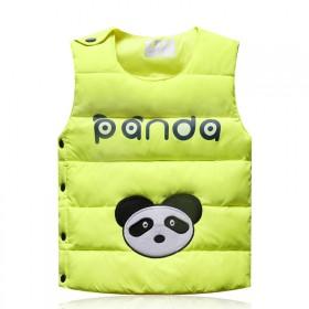 新款全棉儿童马甲儿童装宝宝薄款卡通小熊背心坎肩马夹