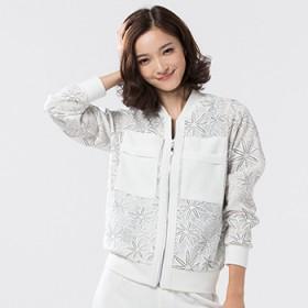 新款秋季短外套女薄款百搭外套夹克雪花衫