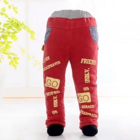 2015秋冬款棉裤冬季夹棉保暖裤童装加厚长裤中小童