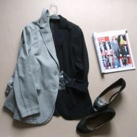 小西装女外套女修身显瘦中长款西服