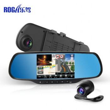 乐驾双摄像头行车记录仪安卓导航倒车后视wifi升级
