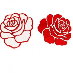 亚克力玫瑰花墙贴