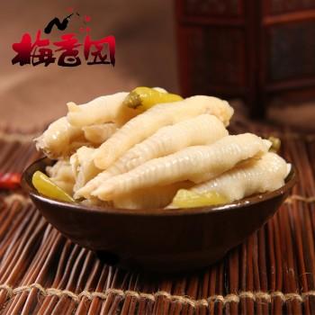 梅香园野山椒凤爪500g 重庆特产小吃零食泡椒凤爪