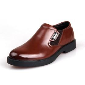 BFK秋冬商務鞋真皮男士休閑鞋牛皮鞋低幫男鞋套腳流
