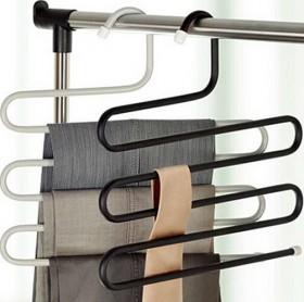 S形多层裤架 s型多功能衣柜整理防滑裤子挂钩收纳架
