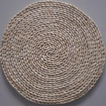 玉米皮蒲草编织飘窗榻坐垫