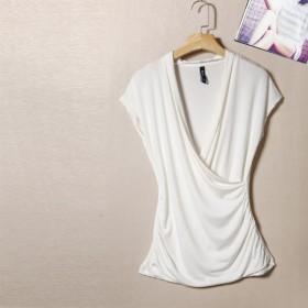 短袖t恤女夏百搭修身原单小背心显瘦简约纯棉上衣打底