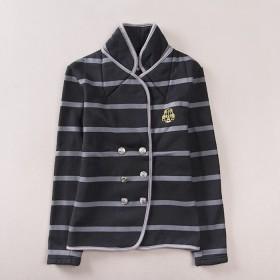 立领棉服棉衣女短款双排扣上衣轻薄修身小棉袄学生韩版