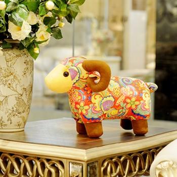 gododo羊玩具生肖羊年吉祥物布艺羊玩偶