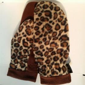 手套女 冬卡通可爱保暖摇粒绒手套全指闷子手套户外骑