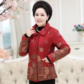 中老年女装加绒棉衣
