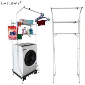 可伸缩洗衣机置物架浴室阳台层架马桶架 限地区
