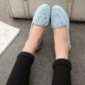 秋季小白鞋豆豆鞋女妈妈鞋休闲女鞋孕妇鞋平底