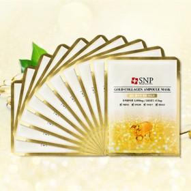 10片韩国SNP黄金胶原蛋白精华面膜补水提拉紧致