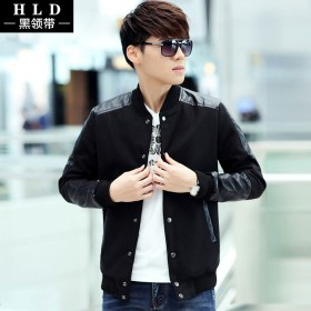 秋季外套男2015男士春秋装夹克韩版修身型大码外套