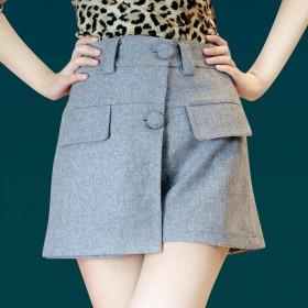 羊绒毛呢2015新款短裙裤