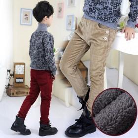 冬季男童重加绒休闲裤
