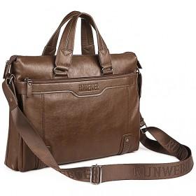 英伦商务男包电脑公文包男士横款手提包时尚单肩斜挎包