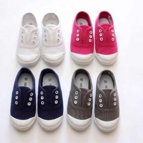 2015秋款儿童水洗男童女童浅口套脚布鞋帆布鞋
