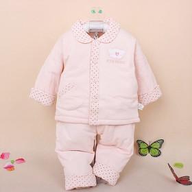 儿童棉衣套装 婴儿翻领对襟棉衣套 童棉衣 童套装