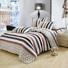 优质床上用品四件套全棉斜纹被罩床单简约磨毛柔软厚实