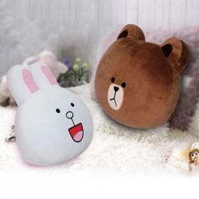 可妮兔布朗熊抱枕