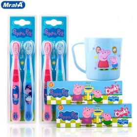 美乐a儿童口腔组合装4支牙刷2支牙膏1只漱口杯