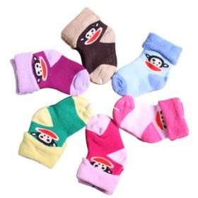 3双加厚毛巾袜童袜儿童大毛圈袜子0-2岁