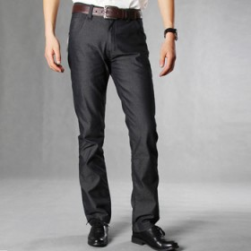 商务绅士男士休闲裤细格子直筒长裤子