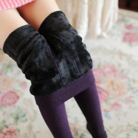 350g加绒加厚 女士打底裤 保暖袜