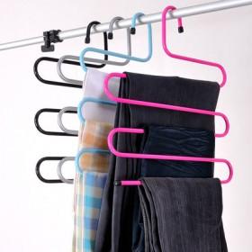 松野S型裤架多功能铁艺衣柜整理架挂裤子收纳衣架