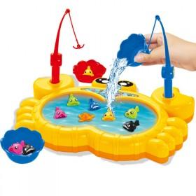 儿童益智玩具音乐电动磁性可加水钓鱼亲子玩具