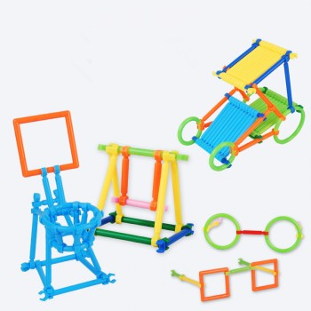 【包邮】 儿童拼装手工玩具 聪明棒拼插积木