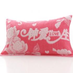 纯棉枕巾一对枕巾加长加厚双人枕巾提花情侣长枕巾