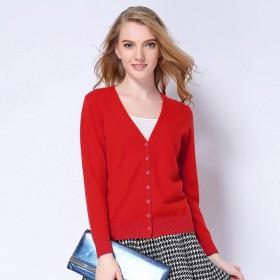 春夏羊毛针织开衫 短外套 女