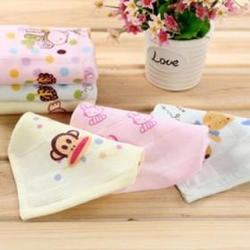 双层纱布毛巾方巾儿童纱布毛巾口水巾5条装