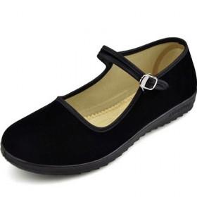 老北京布鞋平跟女鞋 酒店工作黑单鞋中老年妈妈广场舞
