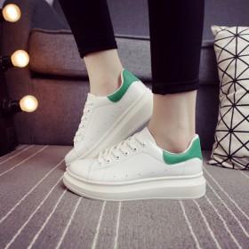 春季新款运动休闲鞋增高厚底板学生女小白鞋