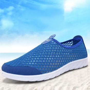 骆康男鞋品牌 夏季新款男士透气网鞋