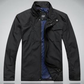 舵轮 春装男士外套 男式休闲简约立领夹克