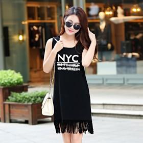 2016新款连衣裙中长款修身显瘦宽松大码韩版百搭