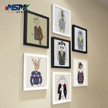 卡通照片墙动物装饰画