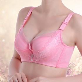 小胸聚拢调整型上薄下厚文胸罩春夏新款