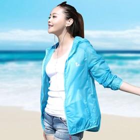 安诺拉夏季防晒衣防紫外线长袖大码短外套薄沙滩防晒
