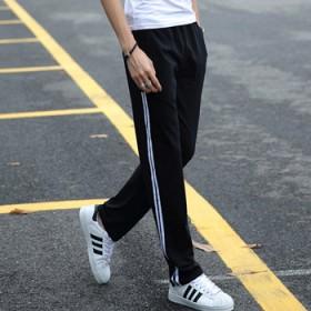 运动裤男长裤春秋薄款纯棉裤篮球运动长裤子男士休闲裤