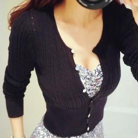 短外套夏季薄款镂空针织衫开衫女