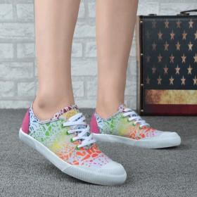 帆布鞋女学生低帮鞋一脚蹬单鞋平底休闲鞋韩版百搭平跟