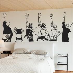 海贼王团队背影励志墙贴卧室房间装饰卡通动漫宿舍贴墙