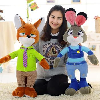 疯狂动物城朱迪兔子公仔尼克狐狸娃娃迪士尼抱枕毛绒